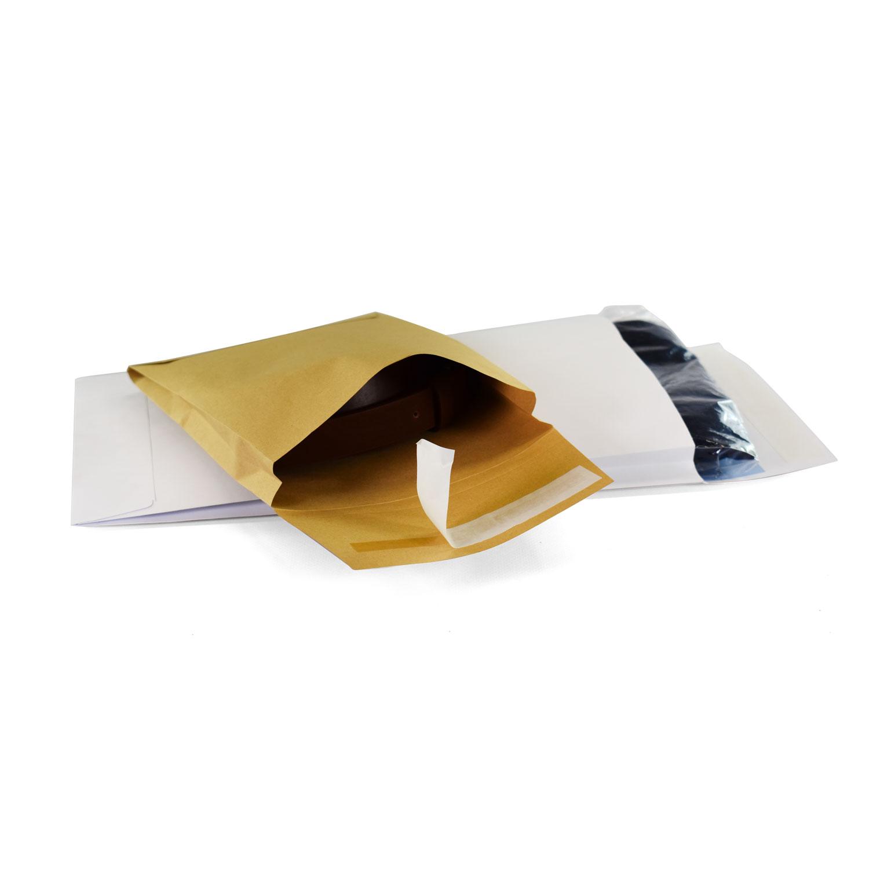 Productos Gama ecológica Sobres acolchados, portadocumentos y bolsas para envío Bolsas opacas cierre adhesivo envíos Sobres papel courier con fuelle lateral y cierre adhesivo para envíos